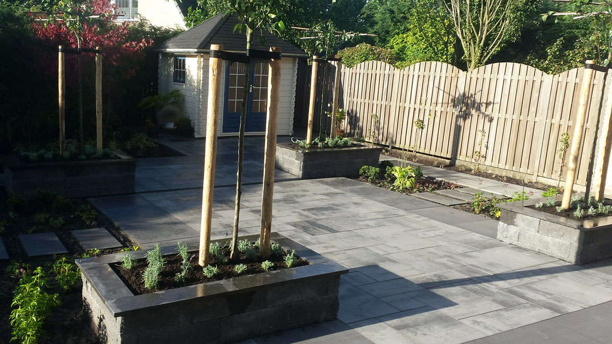 Onderhoudsvriendelijke Tuin Aanleggen : Onderhoudsvriendelijke tuin blom hoveniers
